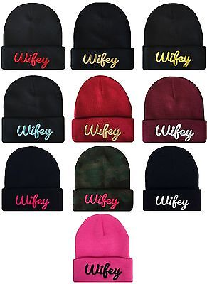 a263ca5fbabe6 NEW AIN T NO Wifey Cuffed Beanie Skull Cap Hip Hop Hat Many Colors ...