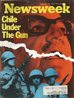 September 24, 1973 Newsweek Magazine Chile Under The Gun Marxism Military Coup