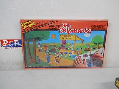 Vintage 1984 Presto Magix The Chipmunks Come To The Nut Stand Transfer Set New