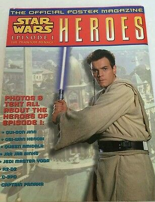 Star Wars • Episode 1 • HEROES • Official Poster Magazine • Topps 1999