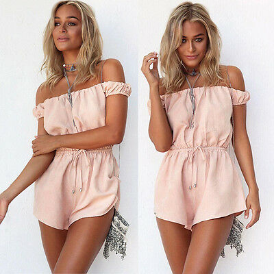 New Sexy Summer Women's Holiday Mini Playsuit Ladies Jumpsuit Casual Beach Wear