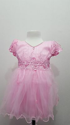 baby girl dress party wedding tutu christmas bow birthday PInK age 6 month 3year