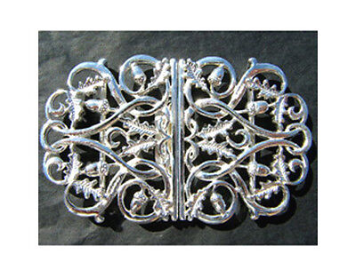 Hallmarked Silver Nurse Buckle.  Brand New Silver Buckle Oak Leaf & Acorn Design