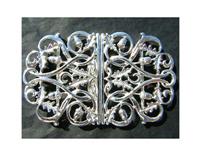 Hallmarked Silver Nurses Buckle.  Brand New With Oak Leaf & Acorn Design