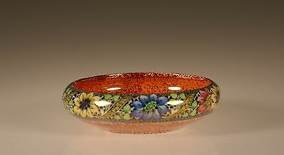 Maling Pottery Art Deco Round Handpainted Floral Lustreware Bowl, England