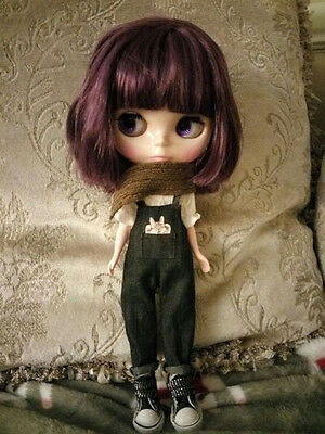 """12"""" Neo Blythe Doll Short Purple Hair Matte FaceNude Doll from Factory 6010+Gift"""