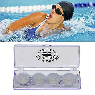 Useful 4Pcs/Box Waterproof Soft Silicone Earplugs Ear Plugs For Swimming Swimmer