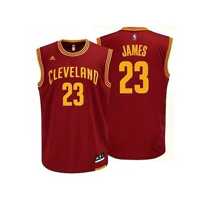 Maillot NBA Lebron James Cleveland Cavaliers Rouge adidas replica