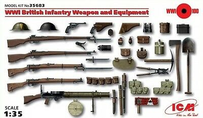 ICM: 1/35 British Infantry - Weapons & Equipment (WWI) Model Kit