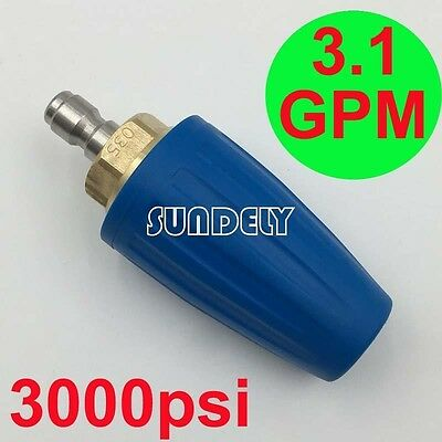 3.1 GPM Washer Turbo Head Nozzle for High Pressure Water Cleaner 3000PSI Blue