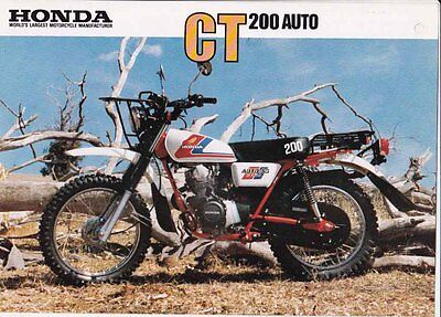 1984 HONDA CT200 AUTO AG Farm Bike 2p Australian Brochure