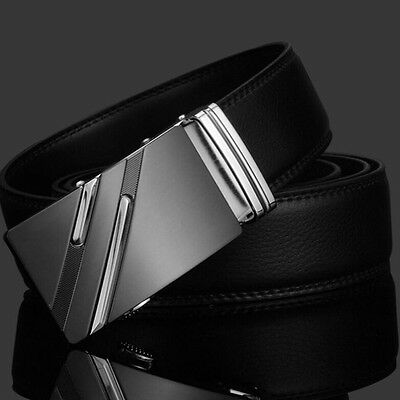Automatic Buckle Waistband Men's Belts Waist Strap Fashion Genuine Leather Belt