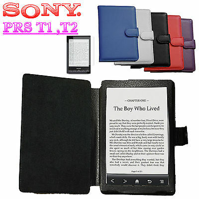 SONY PRS T1 T2 PU LEATHER CASE COVER PRS-T2  eBook Reader eReader Book