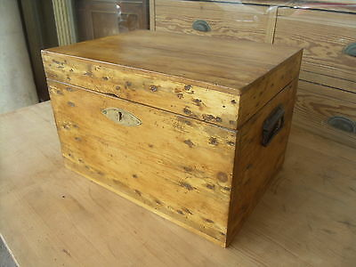 Small Antique Pine Box / Chest / Trunk
