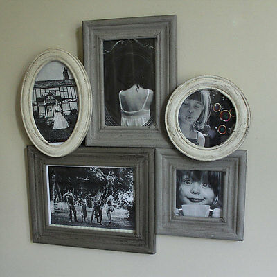 Grey Cream Wooden Multi Photograph Frame photo pictures family home gift