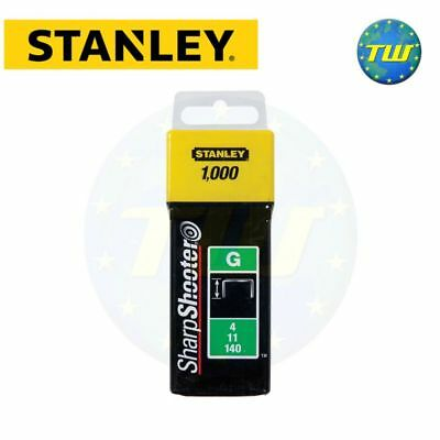 Stanley Staple 14mm 1000pc Type G Sharpshooter Fits Arrow & Rapesco 1-TRA709T