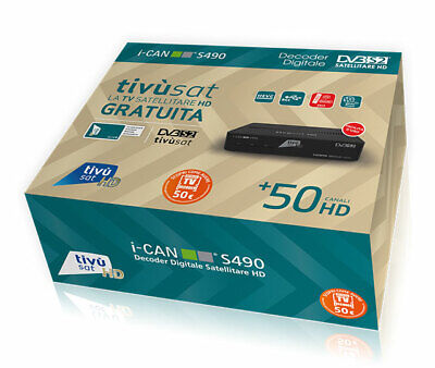 Decoder ADB i-CAN Tivùsat 3900S HD/COMPRESA SCHEDA TV SAT GOLD DVBS2.