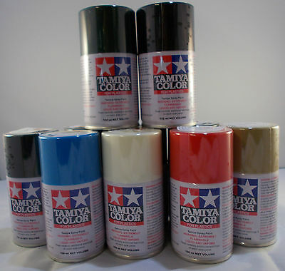 Tamiya TS Spray Paints 100ml  TS1 - TS30  Delivery charge is for any quantity