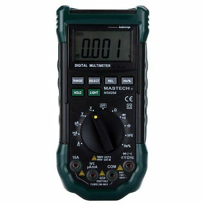 Mastech MS8268 Digital AC/DC Auto/Manual Range Digital Multimeter Meter Fuse BF