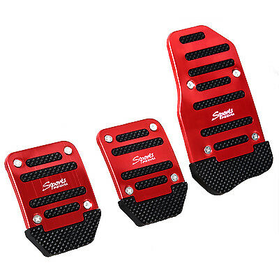 Hot Sale 3 Pcs Practical Black Red Metal Plastic Nonslip Pedal Cover for Car BF