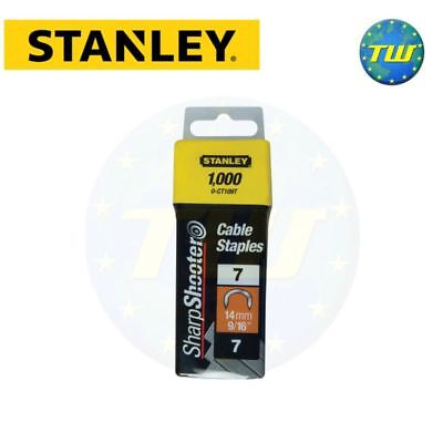 Stanley Staple 14mm 1000pc Type 7 Sharpshooter Maestri Maxicraft Outifrance Sam