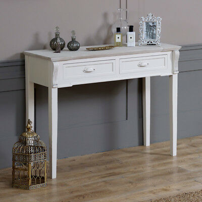 cream wooden country style dressing table shabby vintage home furniture bedroom