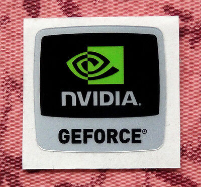 Nvidia GeForce Sticker 18 x 17.5mm Case Badge Logo USA Seller
