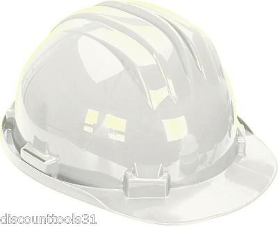 White Safety Helmet Hard Hat with Adjustable 6 Point Harness Box of 10