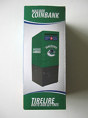 Vancouver Canucks Canada Post Coin Bank! New, NHL Licensed, Piggie Bank, Coins