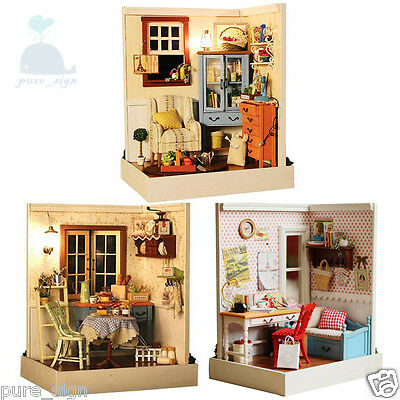 DIY Handcraft Miniature Project Kit My Country Houses In Lucky Town Dolls House