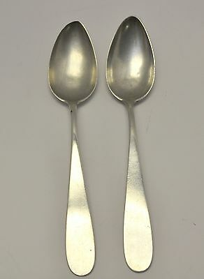 "Antique 1800's Pair Palma de Mallorca Spain 8"" Spoons European 900 Silver"