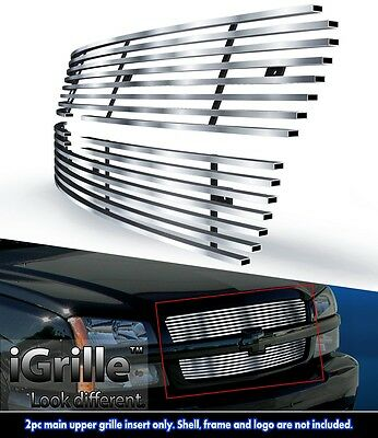 304 Stainless Steel Billet Grille Fits 2003-05 Chevy Silverado 1500/ 03-04 2500