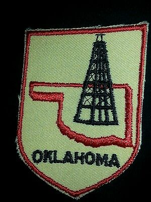 Vintage Embroidery Oil Well State Of Oklahoma Uniform Patch