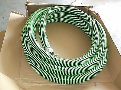 "NEW Water Suction and Discharge Hose 3"" x 50' 180 F Max Black/Green 1ZNA4 (WH/S)"