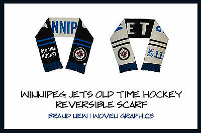 OTH Old Time Hockey Winnipeg Jets Reversible Wender Scarf! New, NHL Winter