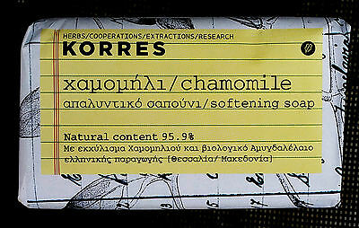 KORRES  CHAMOMILE Softening soap. 4,41Fl. Oz. 125mL. Ideal for face and body.