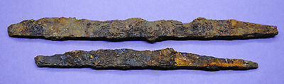 Two ancient Medieval iron kn1fe bl@des12th-15th century AD