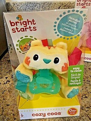 Bright Starts Baby  Cozy Coos Pacifier Tiger Htf !! New  In Box  With 1 Pacifier