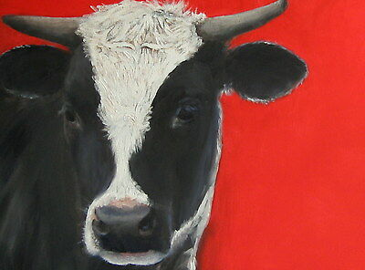 TRUJILLO Listed Artist Commissioned Pet Portraits ORIGINAL OIL of dogs cats cows
