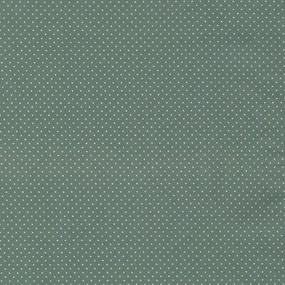 Micro Pin Dot - Dusty Green - 100% Cotton Spot Fabric Quilting Crafts Patchwork
