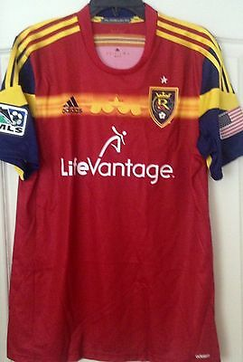 Adidas Real Salt Lake Player Issue Adizero Red Authentic Jersey Size L