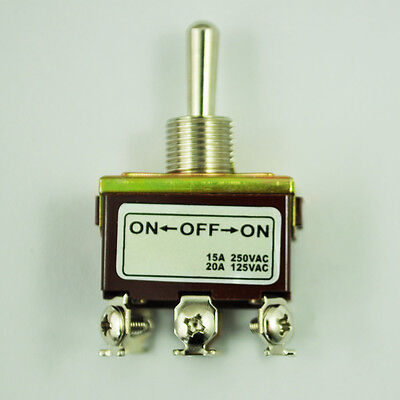DPDT On/Off/On 3 Position 6 Screw Terminals Toggle Switch AC 250V 15A DT