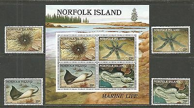 Norfolk Island 1986 Local Marine Life--Attractive Topical (377-80a) MNH