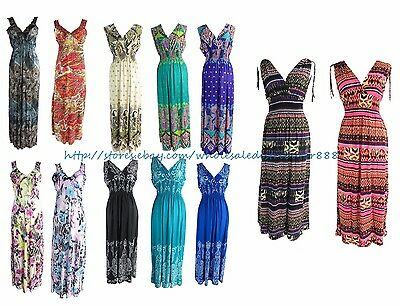 US SELLER - wholesale lot of 10 sexy summer bohemian maxi long dresses for women