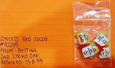 Rare Samples - Set 3 Streets Red Sydney 2000 Olympic Games Pins (#120)