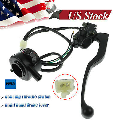 Throttle Housing Kill Handle Switch+ Right Brake Lever for Yamaha PW80 PY80