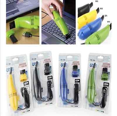 Mini USB Vacuum Cleaner Hoover Keyboard Dust Collector Brush Computer Gadgets