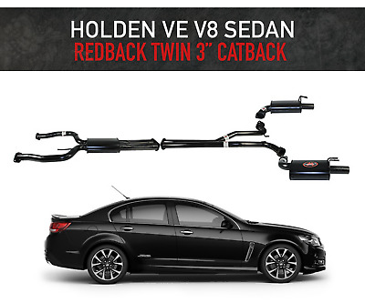 "Holden Commodore Ve V8 Redback Exhaust System 3"" Inch Cat Back For Sedan"