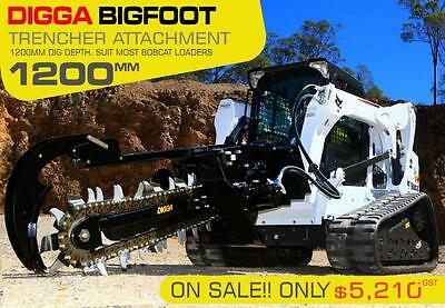 Brand New T1200 Trencher Attachment to suit Bobcat, Excavator, Skid Steer