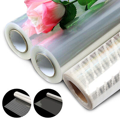 20M/100M Wide Plain Clear Florist Craft Cellophane Roll Film Gift Wrap Hamper